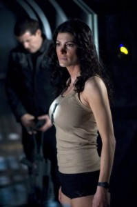 "STARGATE UNIVERSE -- ""Darkness"" Episode 104 -- Pictured: Julia Anderson as Sgt. Vanessa James -- Syfy Photo: Carole Segal"